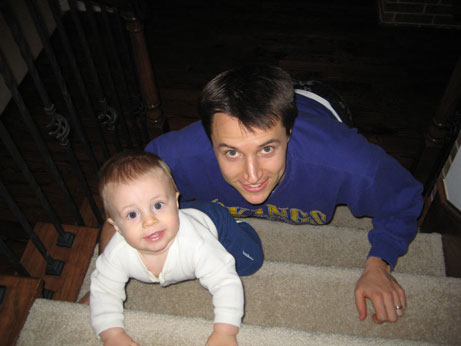 G and I Doing Some Steps Strength Training