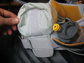 Separate pouch from Velcro.