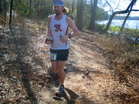 James at 2013 Rocky Raccoon 50 mile. (Photo: David Hanenburg)