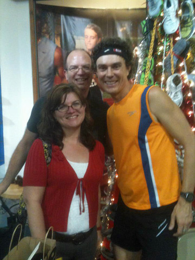 Let's take a moment to enjoy my picture with Scott Jurek and I. Oh, and that's my husband, Rob, behind us.
