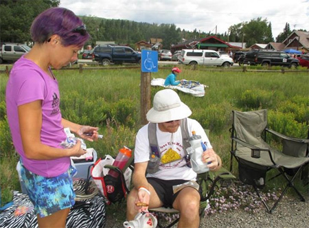 Twin Lakes Aid Station  -Mile 40