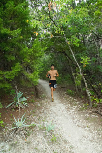 Michael Lee in the early kilometers. Photo: