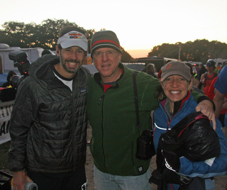 Paul pre-race with Rick Kent and wife Meredith.