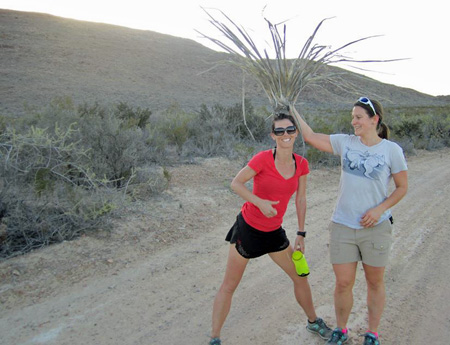 Fun at Big Bend. Tracie trying on some local flair. (Photo Credit Tony Roman)
