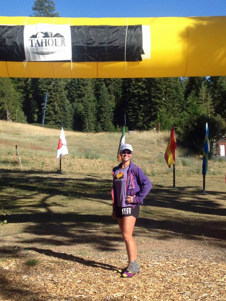 Gia Madole at the start line of the Tahoe 200.