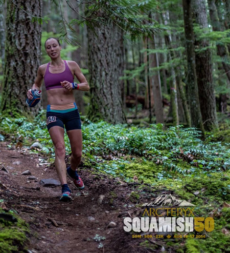 Lise at Squamish 50.
