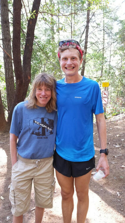 Ford with Ann Trason over Western States training weekend.