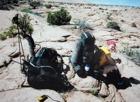 A week of backpacking in Utah's Glen Canyon 3 days after running Umstead 100 (circa 2004)